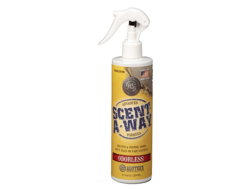 Hunter's Specialties Scent-A-Way Scent Elimination Spray with Quad Action Odorless Liquid 12 oz