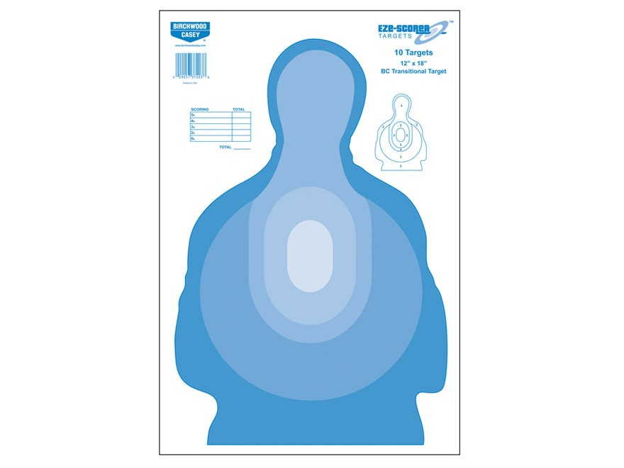"Birchwood Casey Eze-Scorer BC Transtar Blue Targets 12"" x 18"" Package of 10"