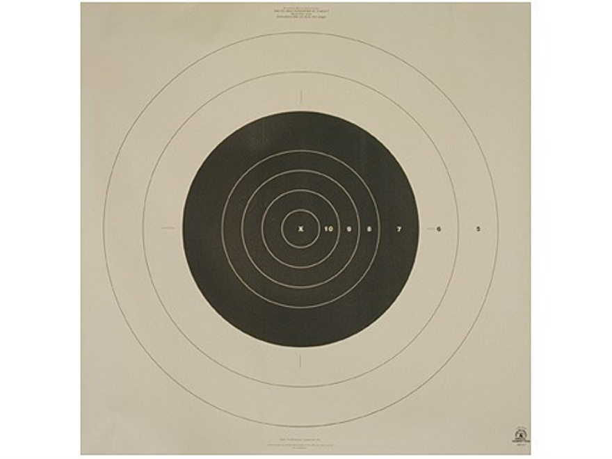NRA Official High Power Rifle Targets MR-63 300 Yard Slow Fire Paper Package of 100