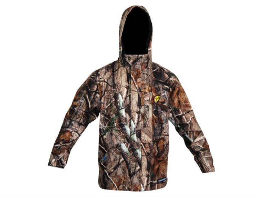 ScentBlocker Men's Triple Threat Waterproof Jacket Polyester Realtree AP Camo Large 42-44