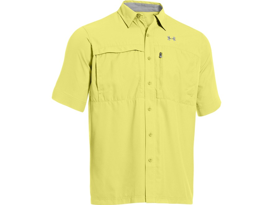 Under Armour Men's UA Flats Guide Short Sleeve Shirt Polyester