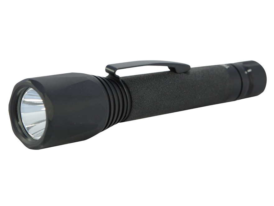 ASP Triad AA Flashlight LED with 2 AA Batteries Aluminum Black