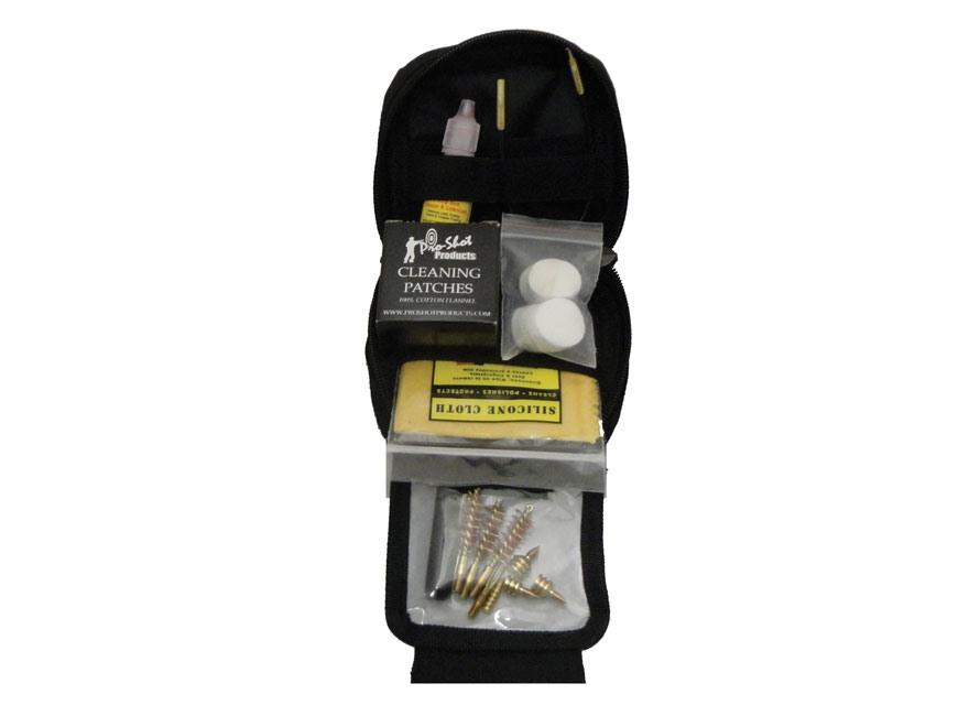 Pro-Shot Tactical Pull Through Universal Handgun Cleaning Kit Black Nylon MOLLE Case