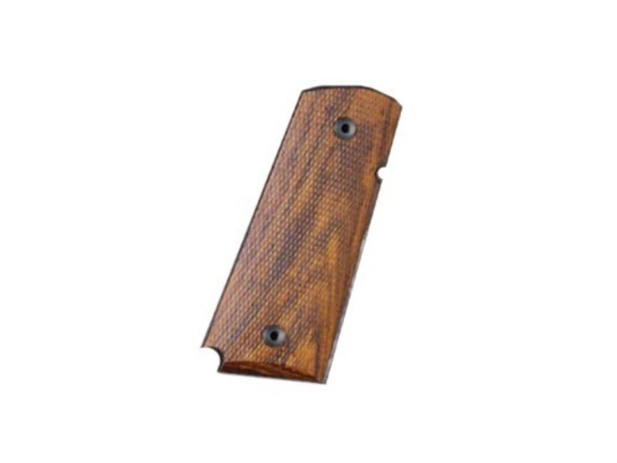 Hogue Grips 1911 Officer Ambidextrous Safety Cut Checkered Cocobolo