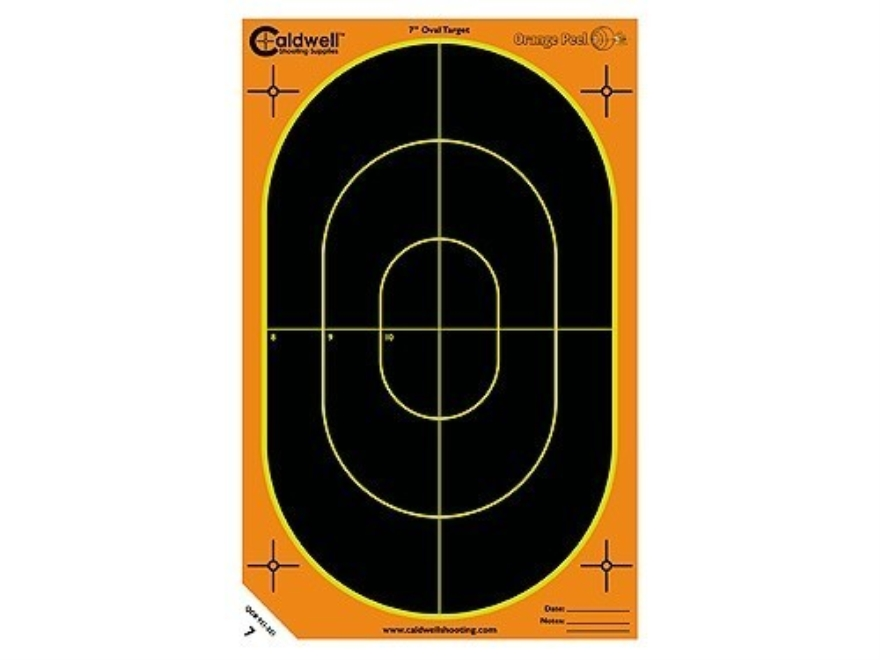 "Caldwell Orange Peel Target 7"" Self-Adhesive Silhouette Package of 100"