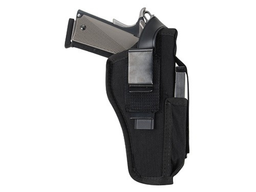 "BlackHawk Ambidextrous Multi-Use Holster with Magazine Pouch Large Frame Semi-Automatic 3-.75"" to 4.5"" Barrel Nylon Black"