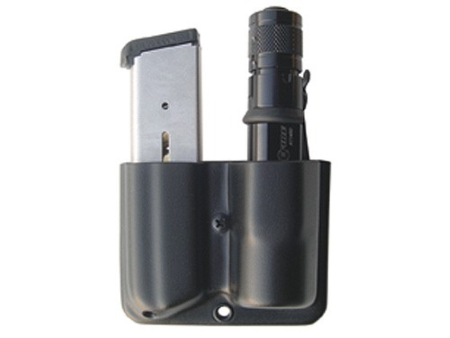 Blade-Tech Single Magazine and Flashlight Pouch Right Hand Single Stack 45 ACP Magazine Surefire G2, 6P, Z2 Lens Down Tek-Lok Kydex Black