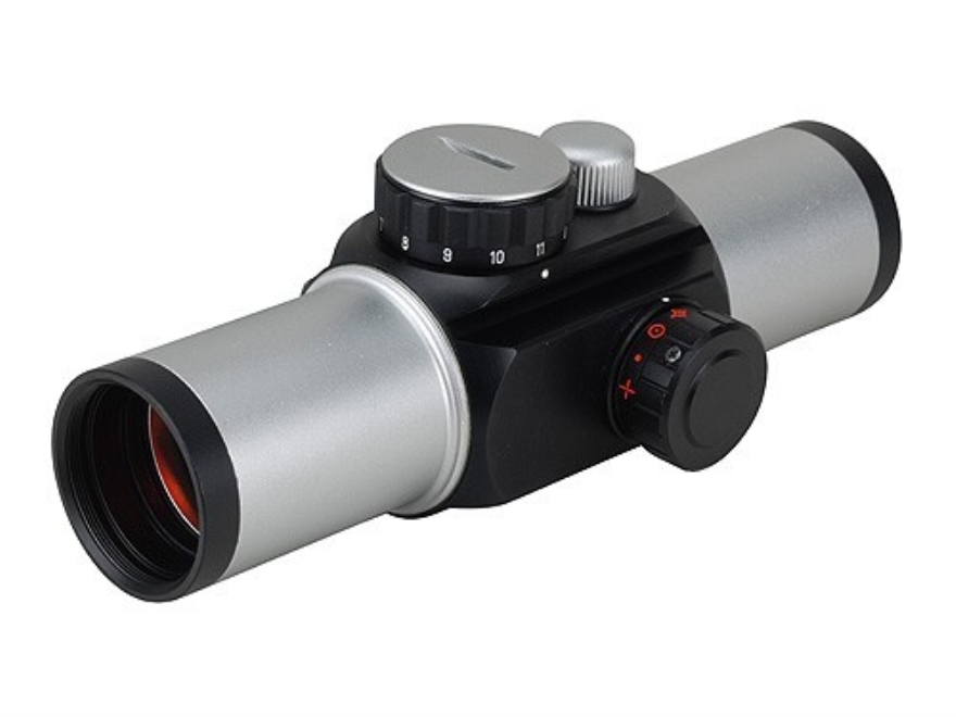 Sightron Red Dot Sight 33mm Tube 1x 4-Pattern Reticle (Duplex with 1 MOA Dot, 4 MOA Dot, 75 MOA Circle with 8 MOA Dot, Crosshair 30 MOA Circle with 2 MOA Dot) with Weaver-Style Rings