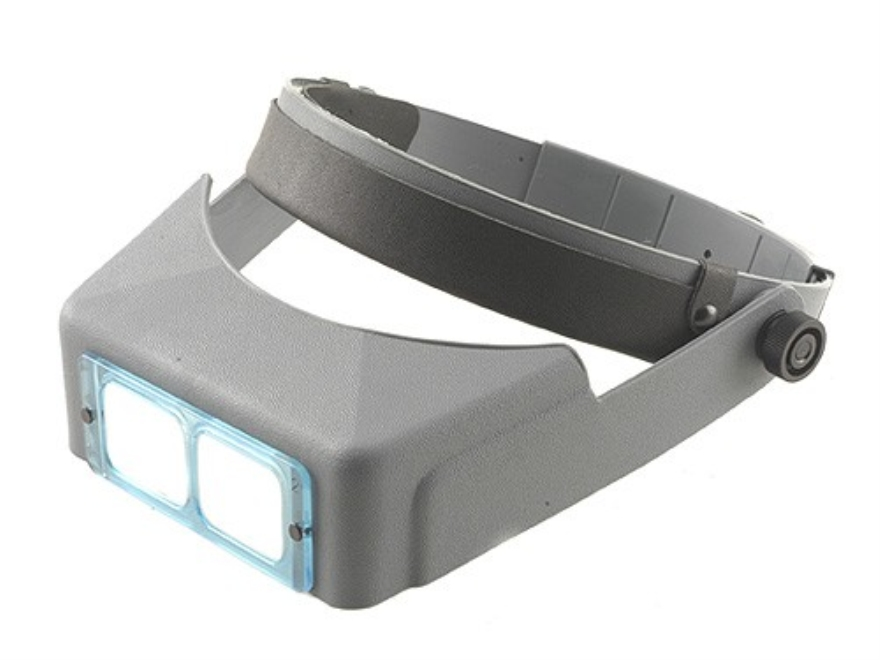 "Donegan Optical OptiVISOR Magnifying Headband Visor with 1-1/2X at 20"" Lens Plate"