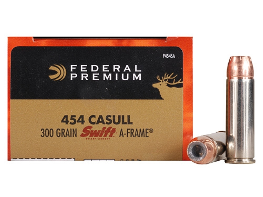 Federal Premium Vital-Shok Ammunition 454 Casull 300 Grain Swift A-Frame Jacketed Hollow Point Box of 20