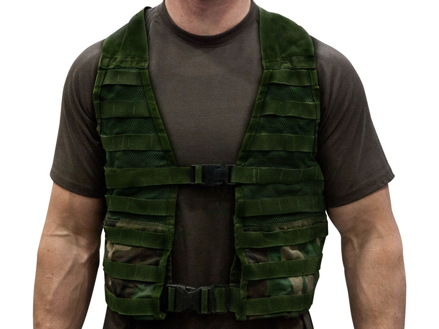 Military Surplus MOLLE Fighting Load Carrier (FLC) Nylon Woodland Camo