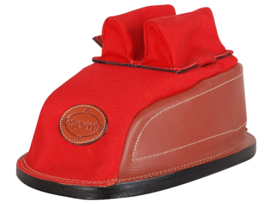 Edgewood Minigater Rear Shooting Rest Bag Tall with Regular Ears and Regular Stitch Width Leather and Nylon Unfilled