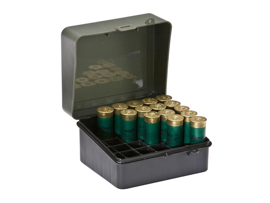 Plano Shotgun Shell Box 12 Ga 3-1/2 25-Round Plastic Green