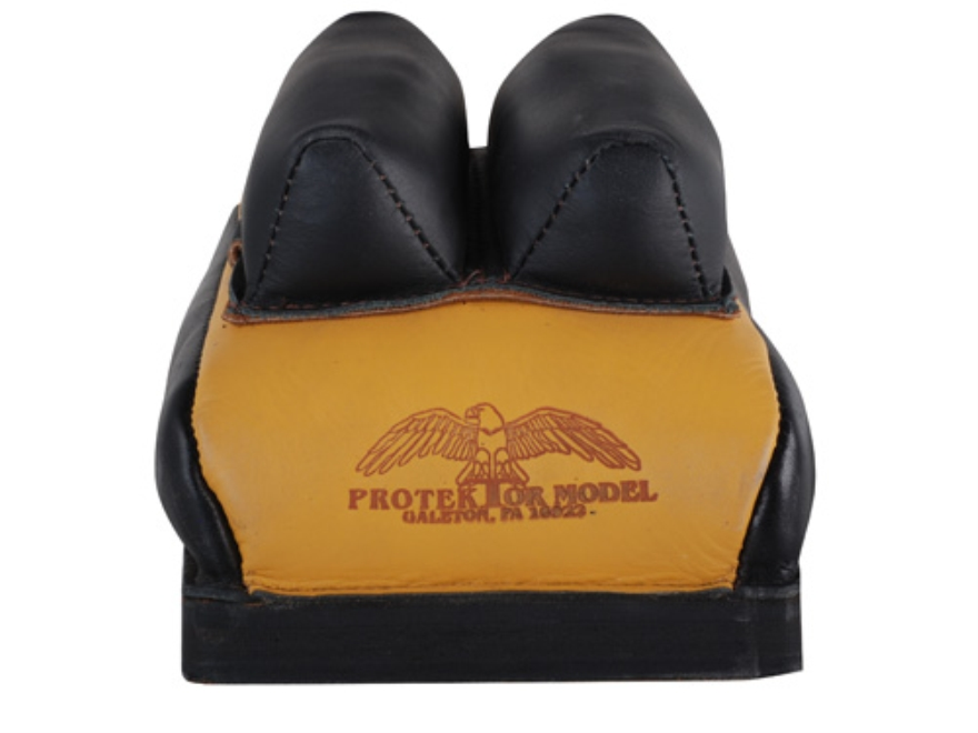 Protektor Custom Bumble Bee Dr Mid-Ear Rear Shooting Rest Bag Leather Tan Filled