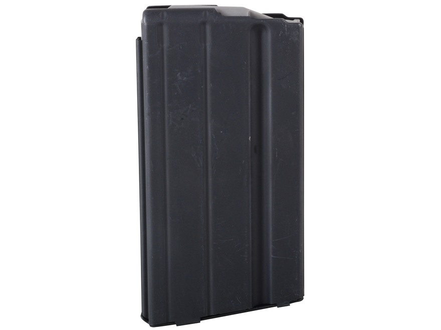 AR-Stoner Magazine AR-15 6.8mm Remington SPC 15-Round Straight Body with Anti Tilt Follower Stainless Steel Black