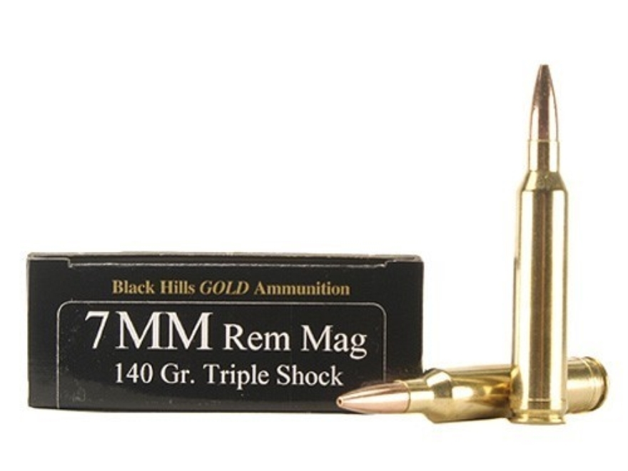 Black Hills Gold Ammunition 7mm Remington Magnum 140 Grain Barnes Triple-Shock X Bullet...