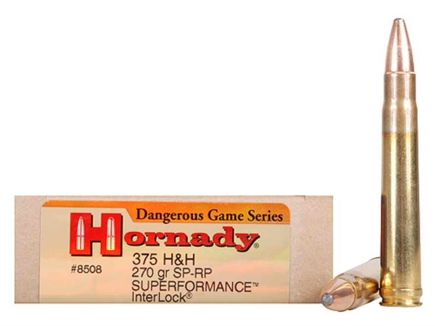 Hornady Dangerous Game Superformance Ammo 375 H&H Mag 270