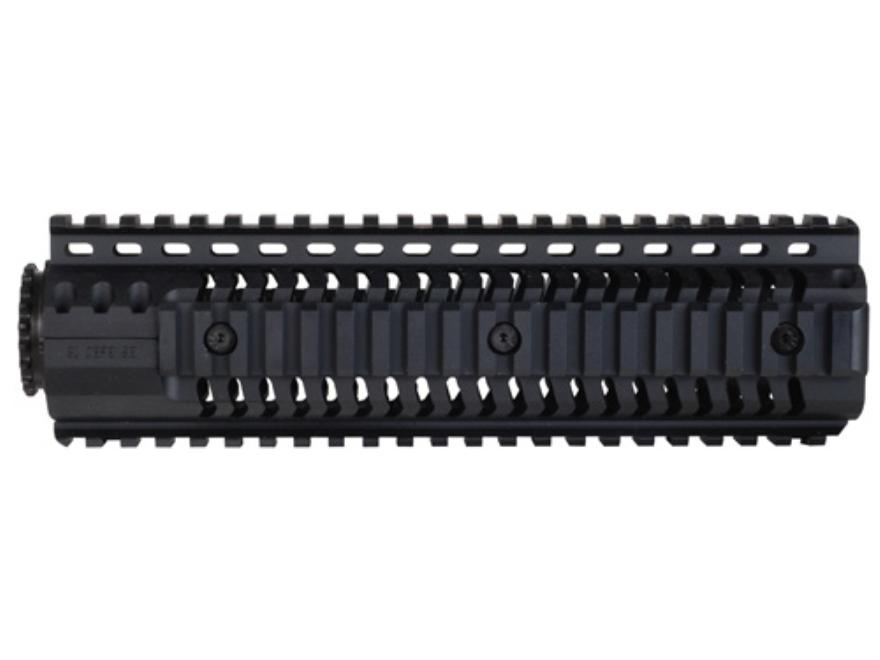 SI Defense 2-Piece Customizable Quad Rail Free Float Handguard LR-308 Mid Length Matte