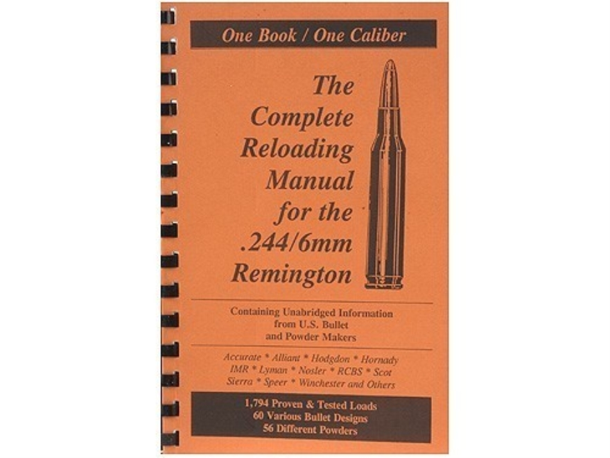 "Loadbooks USA ""6mm Remington"" Reloading Manual"