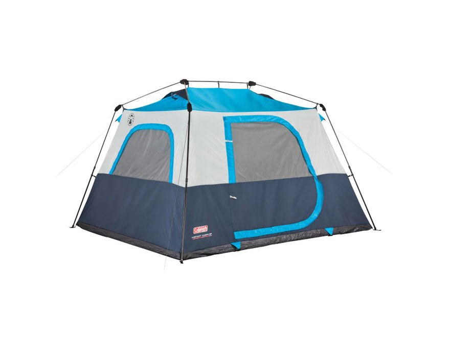 Coleman 6 Person Instant Cabin Tent Polyester Blue Silver
