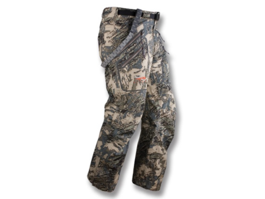 Sitka Gear Men's Stormfront Rain Pants Polyester Gore Optifade Open Country Camo Large ...