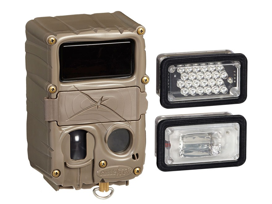 Cuddeback Triple Interchangeable White Flash/Infrared/Black Flash Infrared Game Camera 20 Megapixel Brown