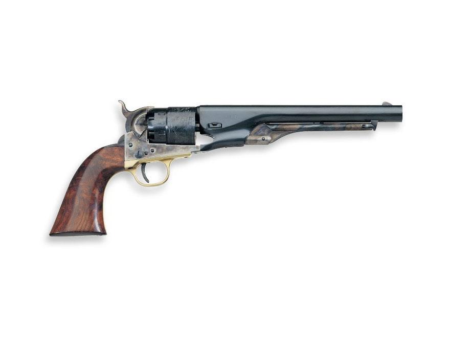 "Uberti 1860 Army Steel Frame Black Powder Revolver with Brass Trigger Guard 44 Caliber 8"" Blue Barrel"