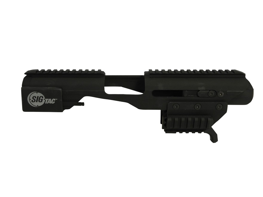 Sig Sauer Adaptive Carbine Platform with Universal Railed Pistol Adapter Aluminum Black
