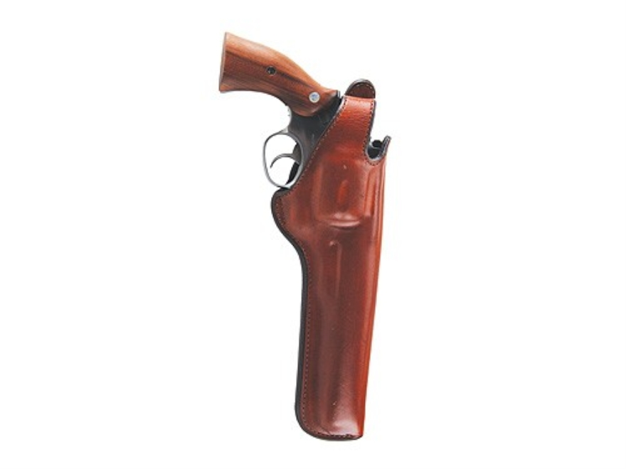 "Bianchi 5BHL Thumbsnap Holster Colt Python, Ruger GP100, S&W K, L-Frame 4"" Barrel Suede Lined Leather Tan"