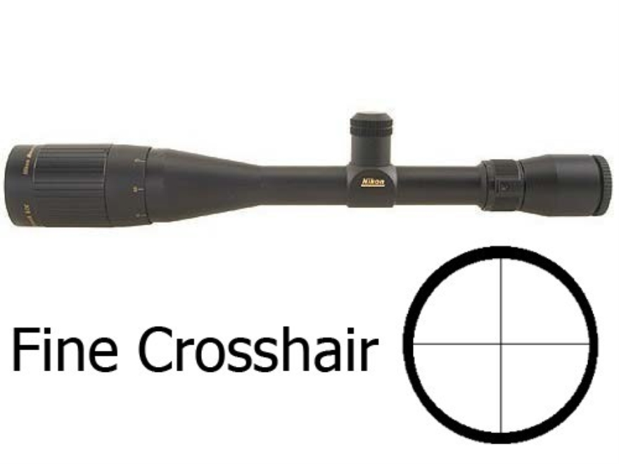 Nikon Monarch Rifle Scope 6.5-20x 44mm Adjustable Objective Fine Crosshair Reticle Matte