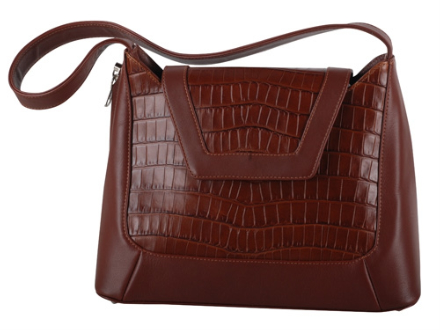 Galco Newport Conceal Carry Handbag Leather and Faux Alligator