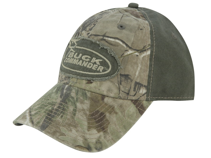Buck Commander Camo Logo Cap Cotton Realtree APG Camo and Olive