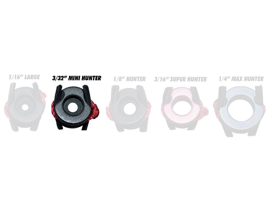 "Jim Fletcher TruPeep Mini-Hunter 3/32"" Bow Peep Sight Aluminum Black"