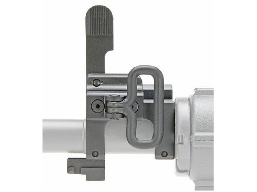 """GG&G Tactical Modular Gas Block with Flip-Up Front Sight Taper Pin Mount AR-15, LR-308 Standard Barrel .750"""" Inside Diameter Steel Matte"""