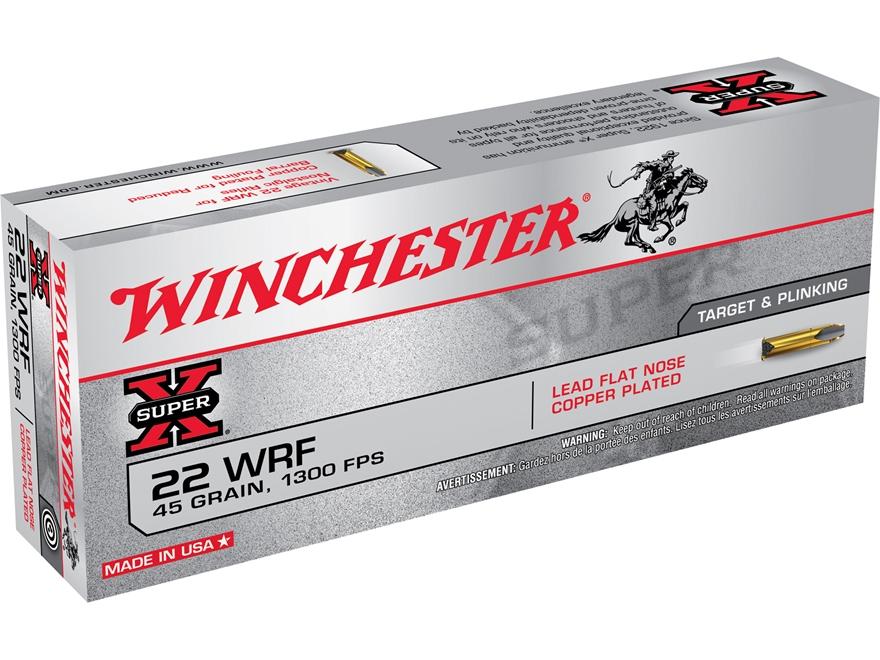 Winchester Ammunition 22 Winchester Rimfire (WRF) 45 Grain Plated Lead Flat Nose