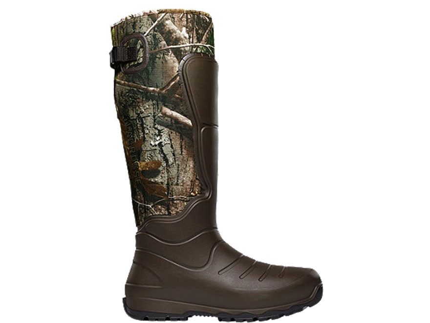 "LaCrosse 7mm Aerohead 18"" Waterproof Insulated Hunting Boots Polyurethane Clad Neoprene Realtree Xtra Camo Men's"