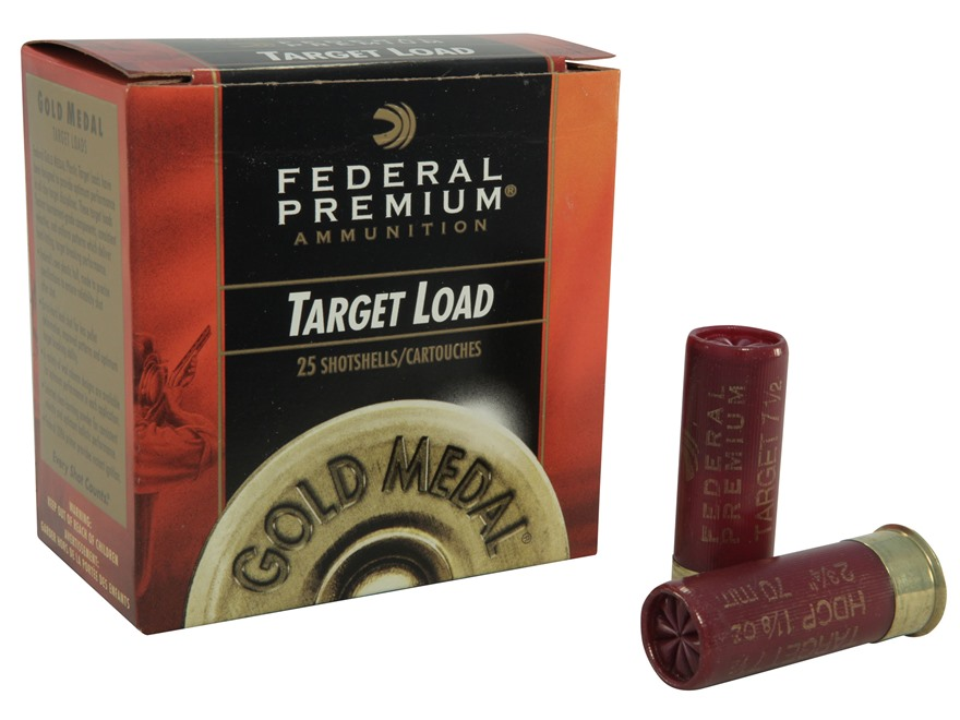 "Federal Premium Gold Medal Handicap Ammunition 12 Gauge 2-3/4"" 1-1/8 oz #7-1/2 Shot"
