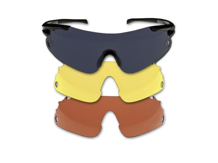Beretta Trident Shooting Glasses Black Frame Black, Red and Yellow Lenses