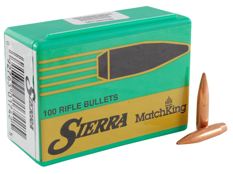 Sierra MatchKing Bullets 264 Caliber, 6.5mm (264 Diameter) 142 Grain Jacketed Hollow Point Boat Tail