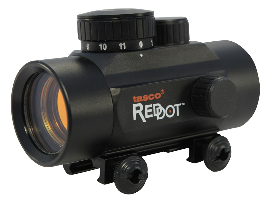 Tasco Red Dot Sight 38mm Tube 1x 30mm 5 MOA Dot with Weaver-Style Mount Matte