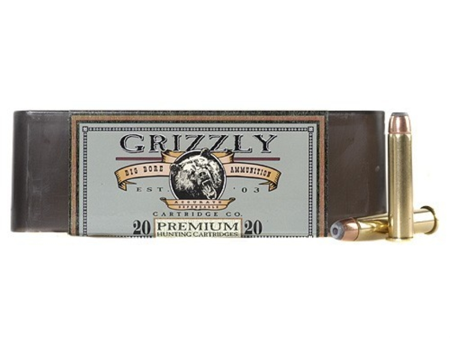 Grizzly Ammunition 45-70 Government +P 350 Grain Bonded Core Jacketed Hollow Point Box of 20