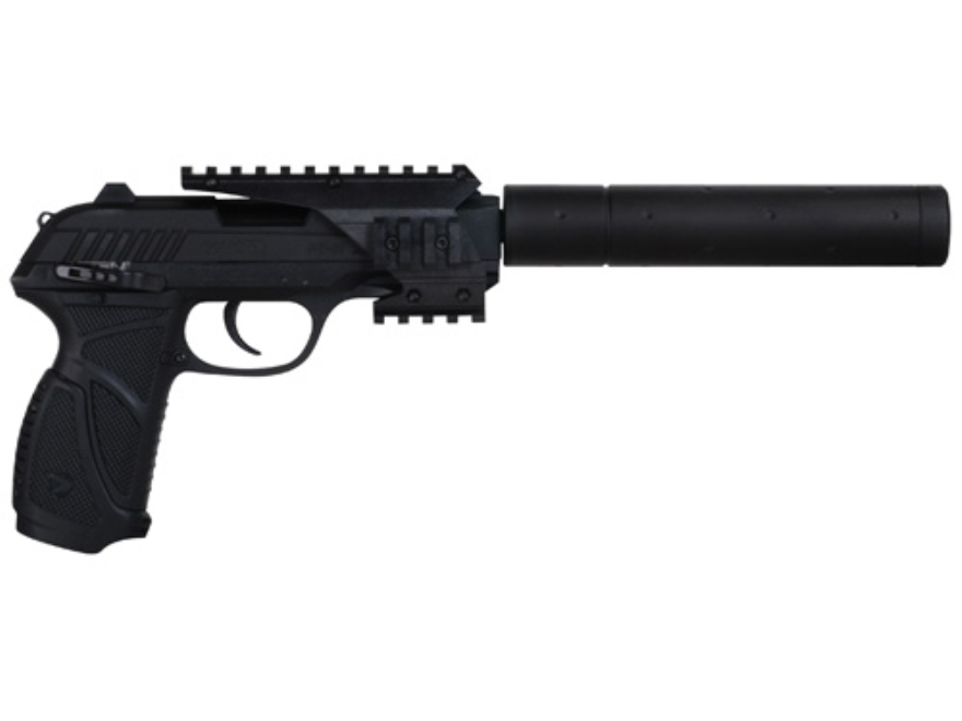 Gamo PT-85 SOCOM Air Pistol 177 Caliber Pellet with Blowback Quad Rail and Compensator Black