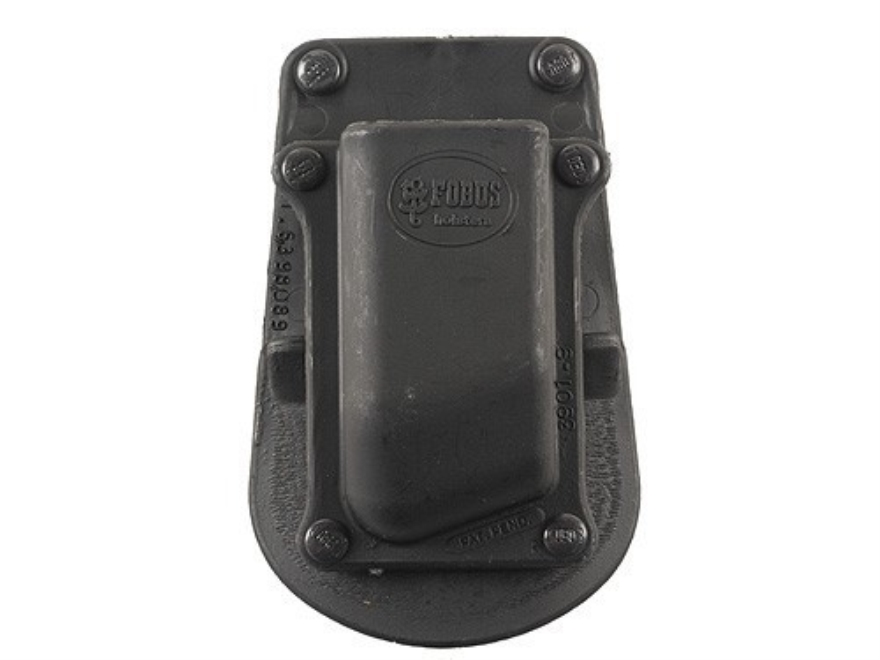 Fobus Paddle Single Magazine Pouch Double-Stack 9mm Luger, 40 S&W Polymer Black