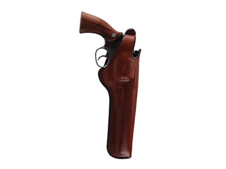 "Bianchi 5BHL Thumbsnap Holster Dan Wesson 44 Magnum, Ruger Redhawk 7.5"" Barrel Suede Lined Leather Tan"