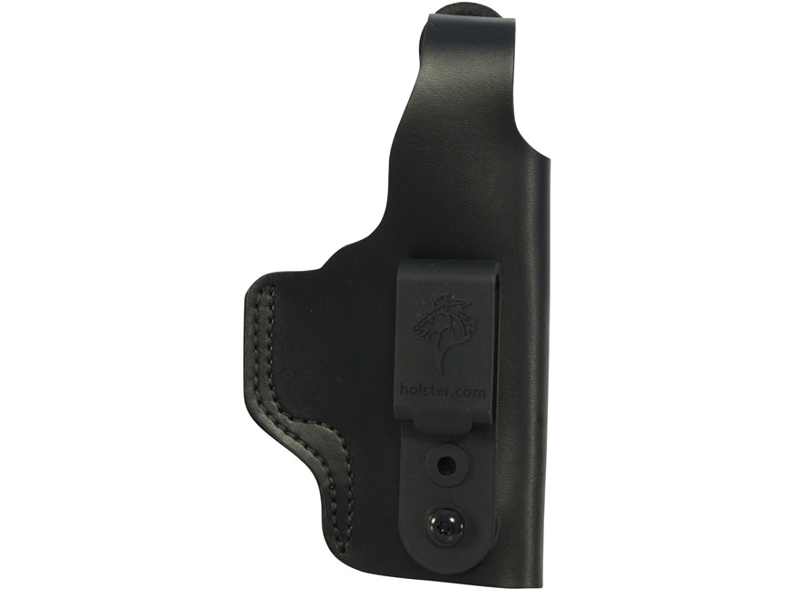 DeSantis Dual Carry II Inside/Outside the Waistband Holster Right Hand Glock 19, 23, 36 Leather Black