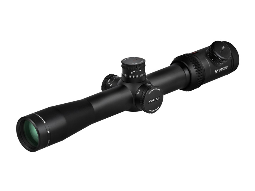Vortex Viper PST Rifle Scope 30mm Tube 2.5-10x 32mm Side Focus 1/10 MIL Adjustments First Focal Plane Illuminated EBR-1 MRAD Reticle Matte
