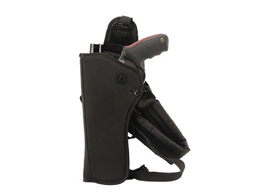 "Bianchi 4101 Ranger HuSH Rig (Holster and Harness) Medium and Large Frame Scoped Revolver 9"" to 10"" Barrel Nylon Black"