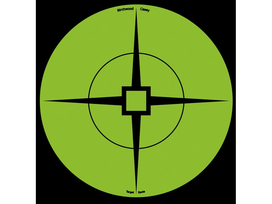 "Birchwood Casey Target Spots 6"" Atomic Green Package of 10"