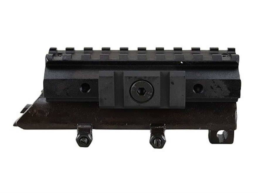 NcStar Tactical Weaver-Style Tri-Rail Mount with Adjustable Side Tabs SKS Matte