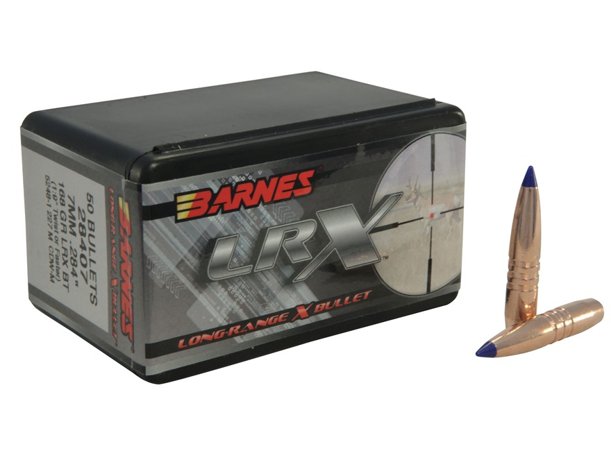 Barnes Long-Range Hunting Bullets 284 Caliber, 7mm (284 Diameter) 168 Grain LRX Boat Ta...